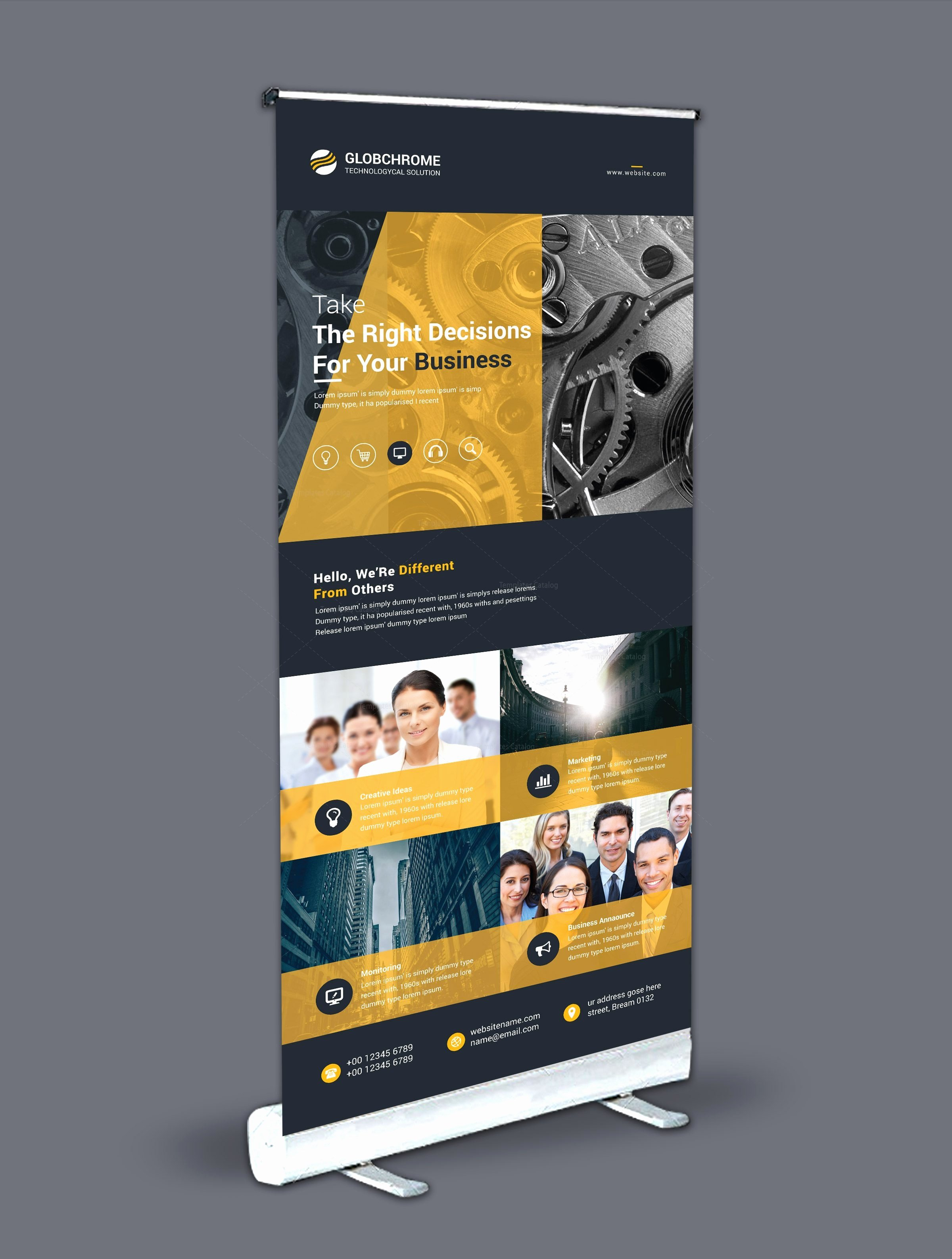 Roll Up Banners Template Luxury Roll Up Banner Design Template Bundle Template