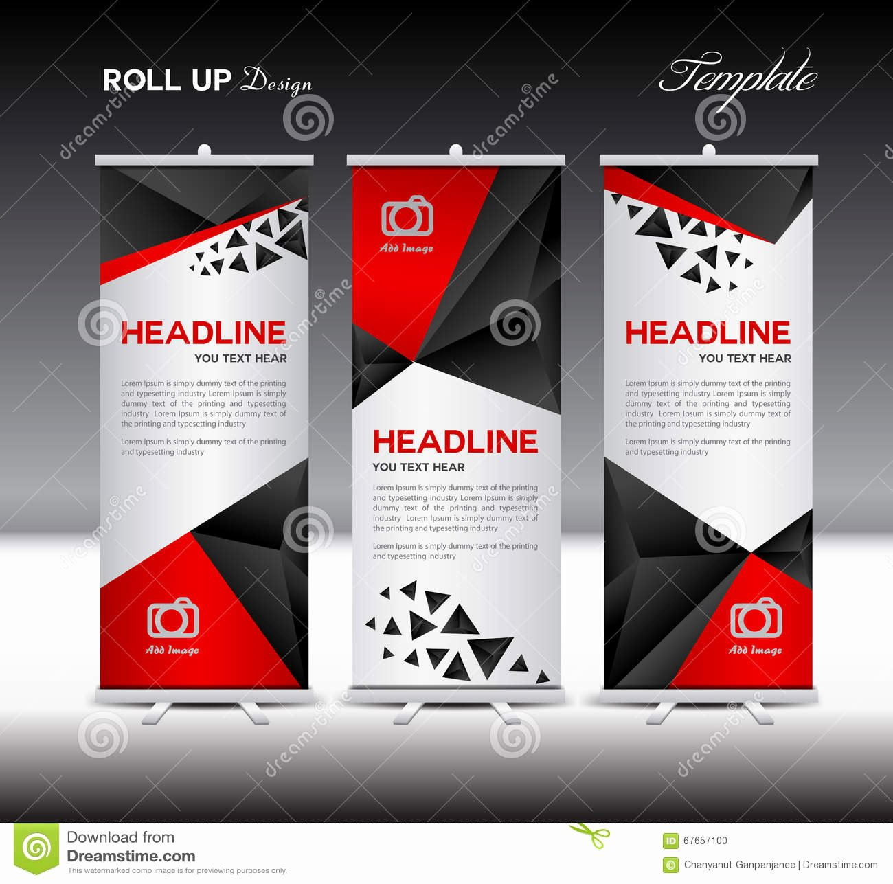 Roll Up Banners Template New Black Roll Up Banner Template Vector Roll Up Stand