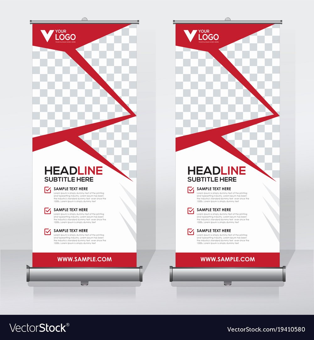 Roll Up Banners Template New Creative Roll Up Banner Design Template Royalty Free Vector