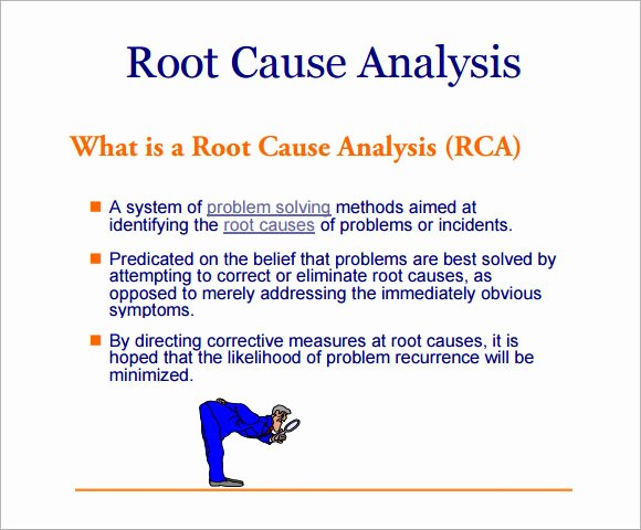 Root Cause Analysis Excel Template Awesome 12 Sample Useful Root Cause Analysis Templates for Free