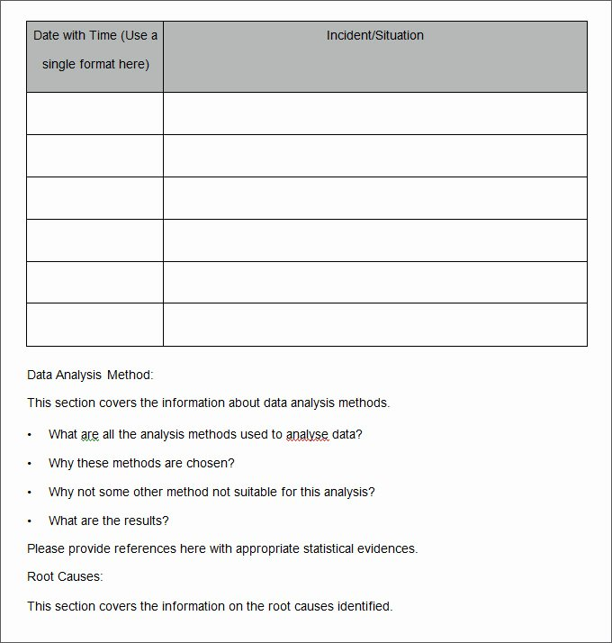 Root Cause Analysis Excel Template Awesome 30 Root Cause Analysis Templates Word