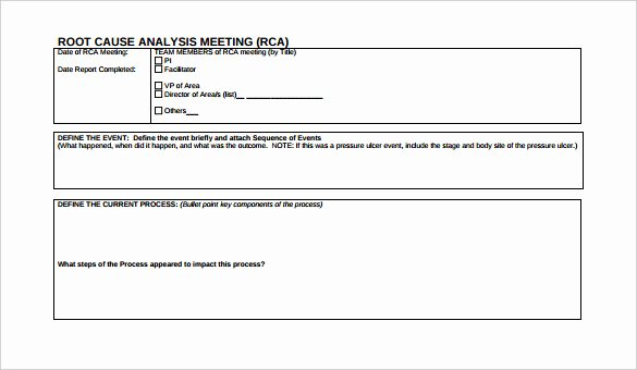 Root Cause Analysis Excel Template Inspirational 30 Root Cause Analysis Templates Word
