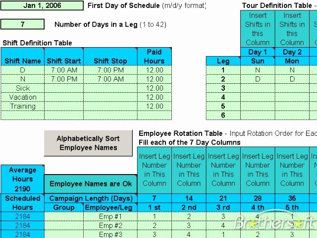 Rotating Shift Schedule Template Luxury Download Free Schedule Rotating Shifts Schedule Rotating