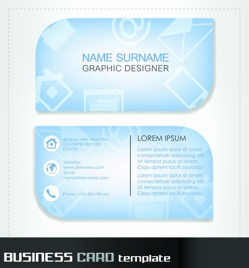 Round Business Card Template Awesome Rounded Business Cards Template Vector Material 02