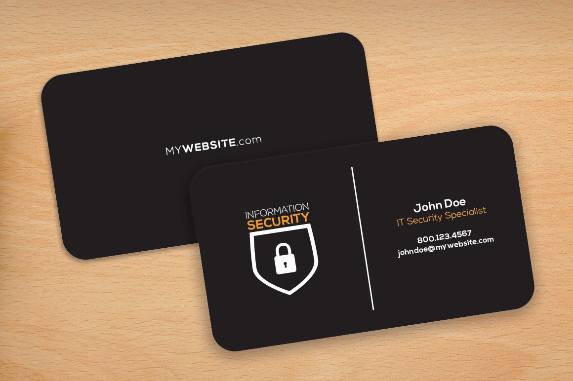 Round Business Card Template Best Of Dark theme Rounded Corners Cards Business Card Templates