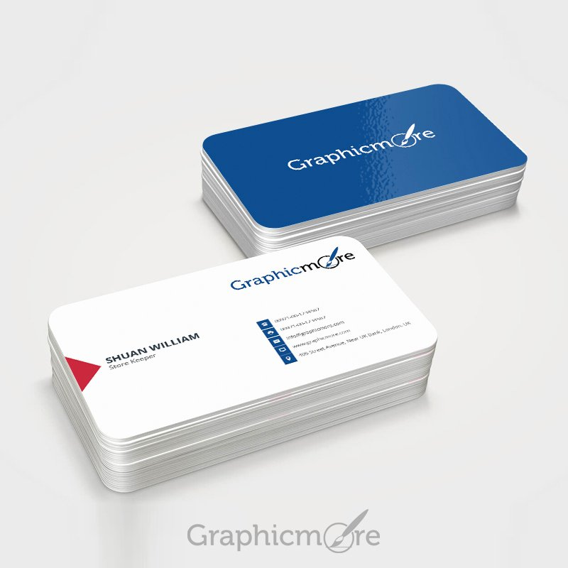 Round Business Card Template Best Of Round Corner Blue Business Card Template & Mockup Design