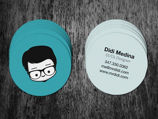Round Business Card Template Elegant 30 Creative Circle Business Card Designs