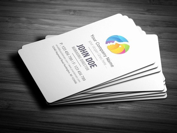 Round Business Card Template Elegant Free Round Edge Business Card Template Free Download
