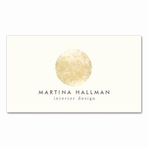 Round Business Card Template Inspirational Interior Designer Abstract Decorative Gold Circle Business