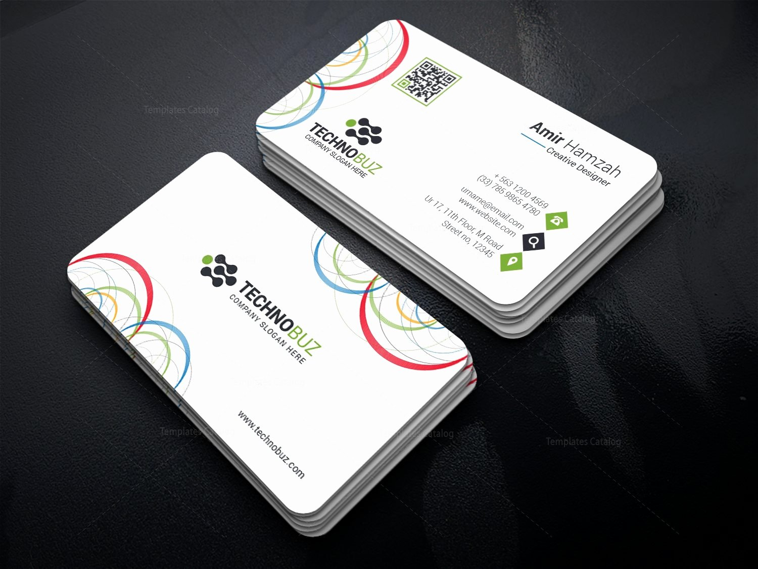 Round Business Card Template Lovely Circle Premium Business Card Template Template