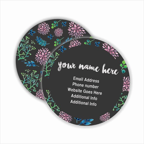 Round Business Card Template Lovely Round Business Cards 7 Free Psd Vector Ai Eps format