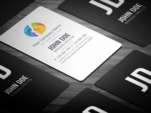 Round Business Card Template Unique Free Round Edge Business Card Template Free Download