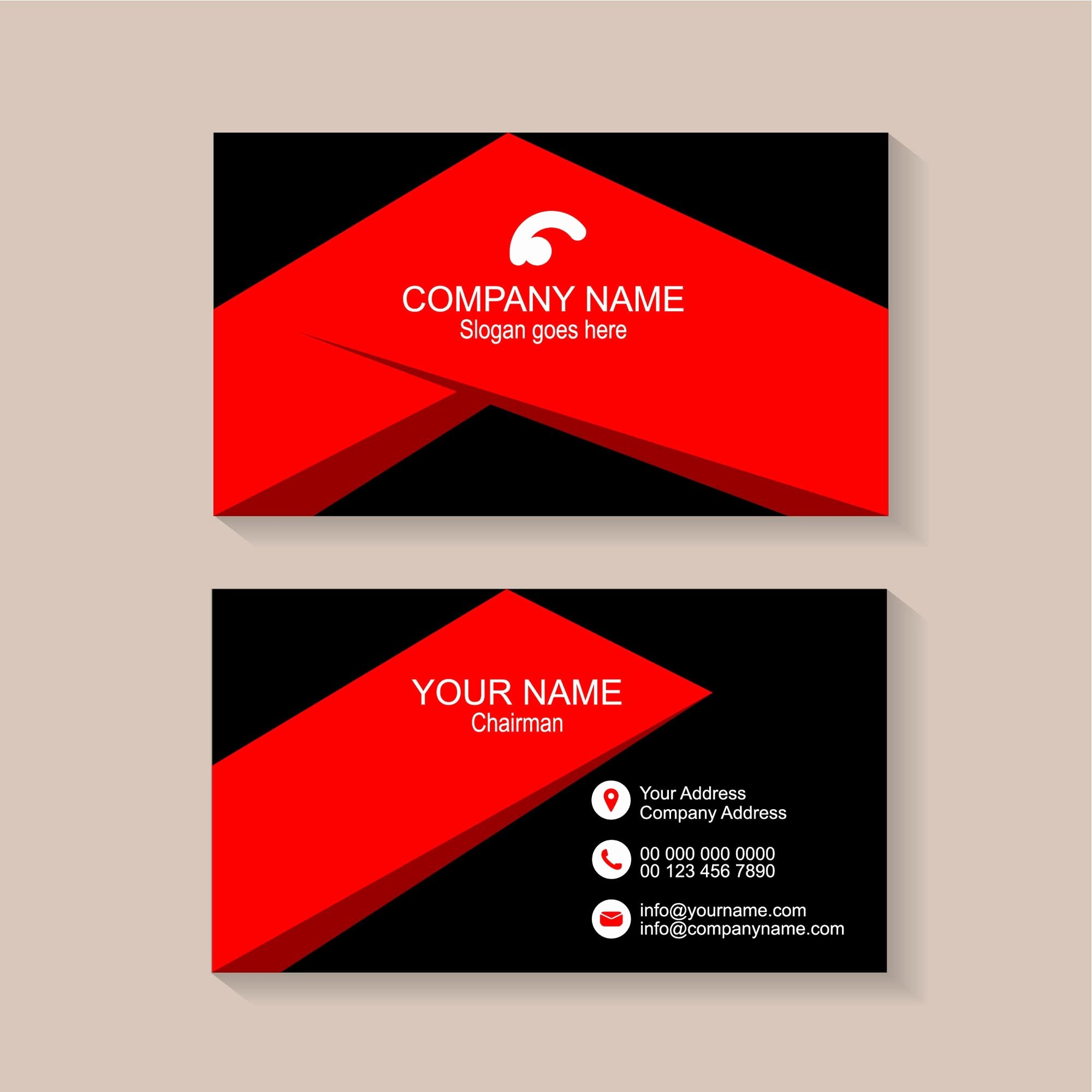 Round Business Card Template Unique Rounded Business Card Template