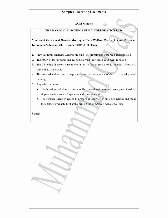 S Corp Meeting Minutes Template Best Of Meeting Agenda and Minutes to Download First Holder
