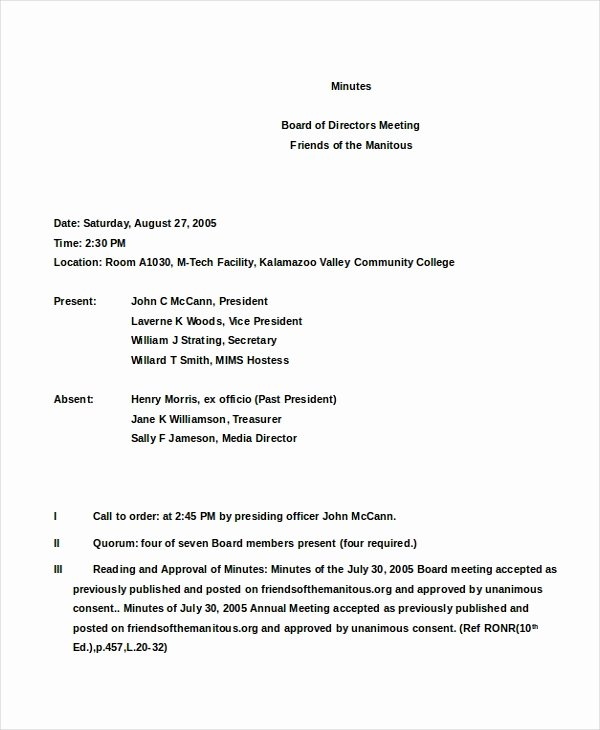 S Corp Meeting Minutes Template Lovely 13 Meeting Minutes Template – Free Samples Examples