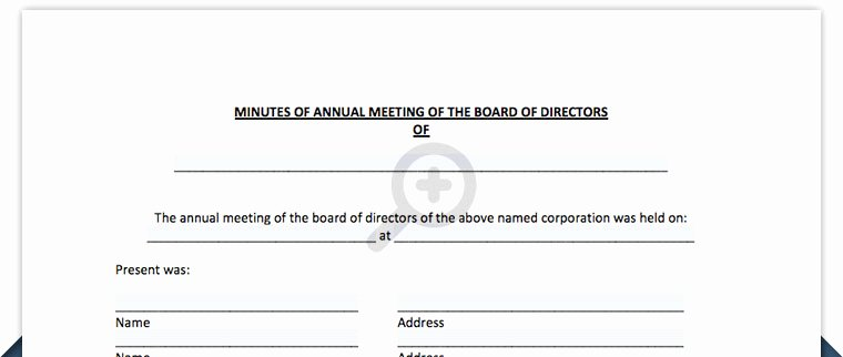 S Corp Meeting Minutes Template Luxury Optionsfreeware Blog