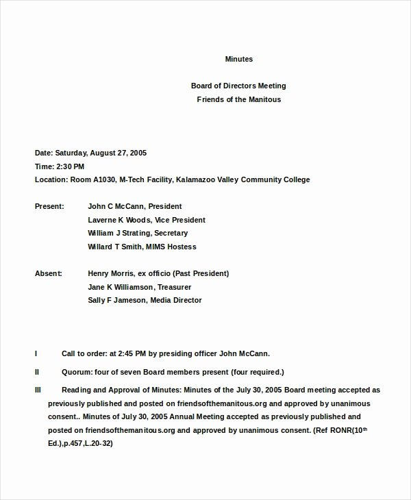 S Corp Meeting Minutes Template Unique 16 Board Minutes Templates Example Word Apple Pages
