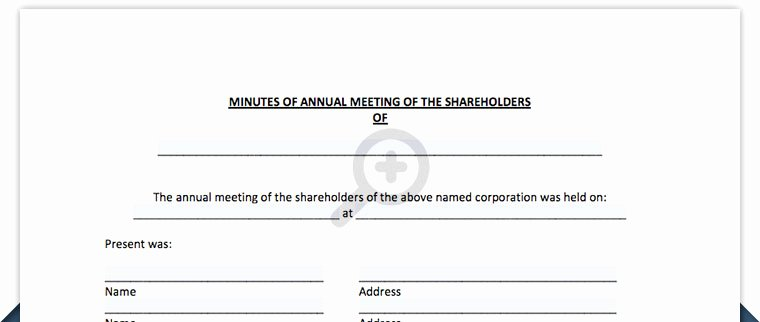 S Corp Minutes Template Best Of Free Annual Holder Meeting Minutes Template