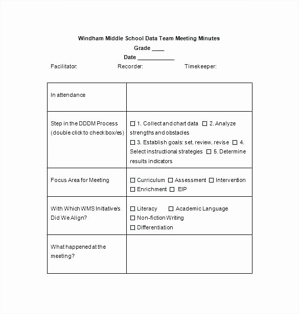 S Corp Minutes Template New Example A Minutes Letter Corporate Meeting Template