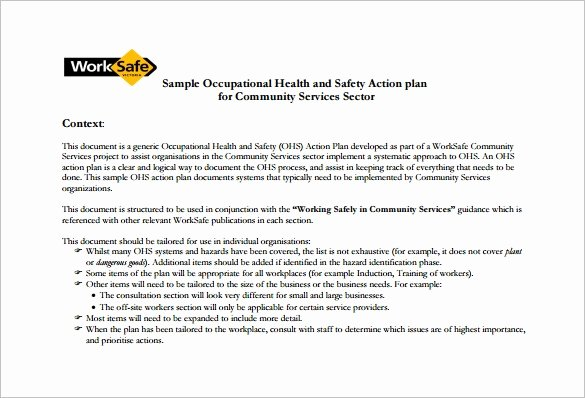 Safety and Health Program Template Best Of 13 Health and Safety Plan Templates Free Sample