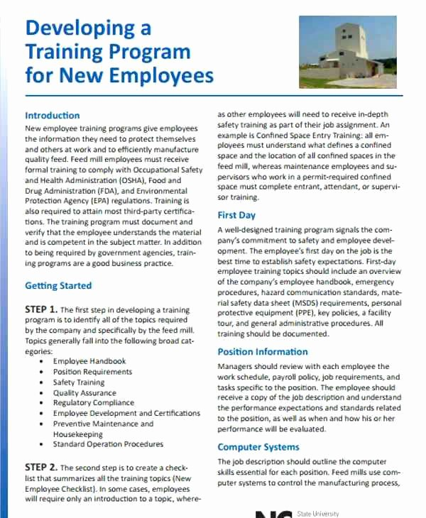 Safety and Health Program Template Best Of Staff Training Template Safety Plan format – Verbe