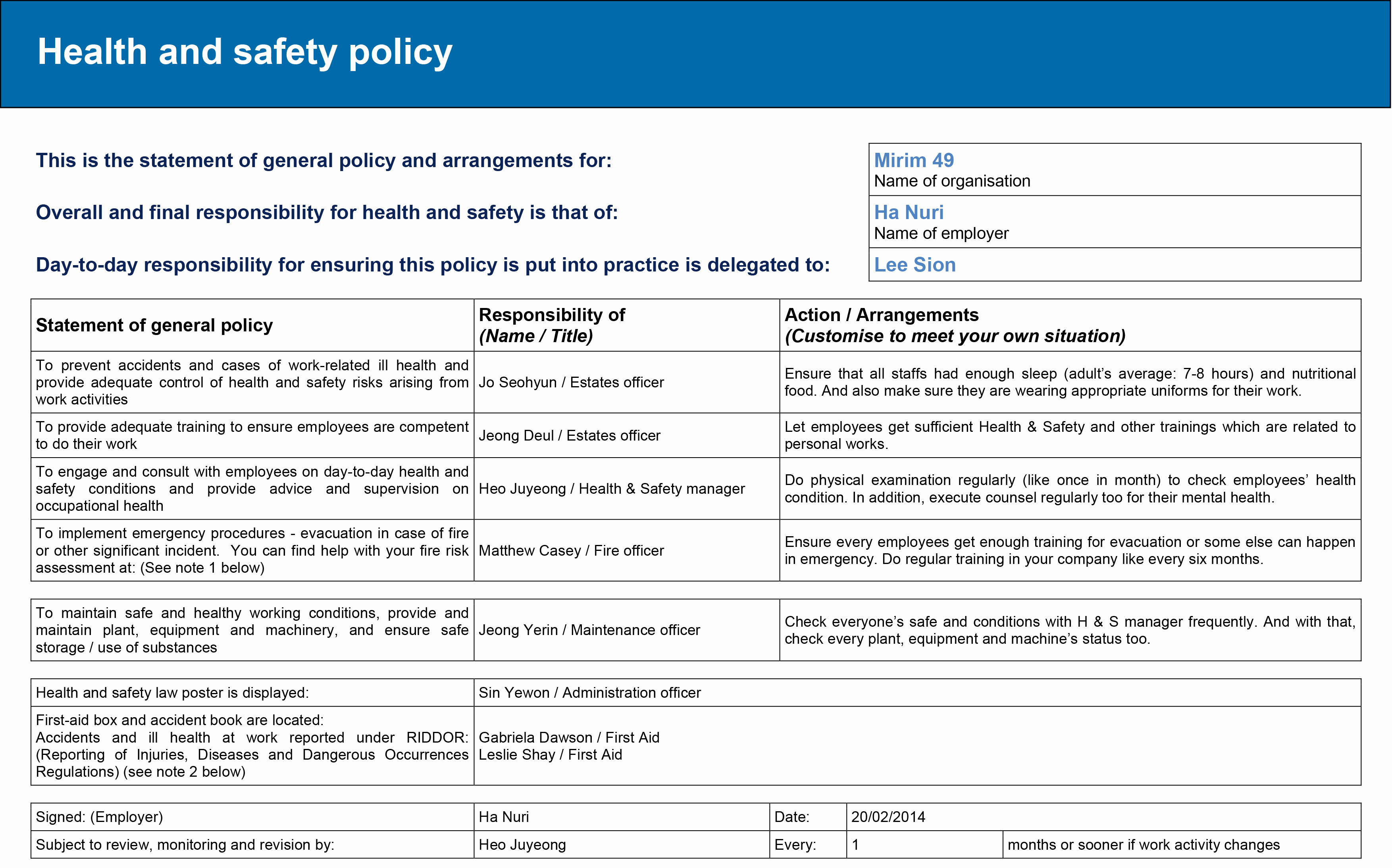 Safety and Health Program Template Elegant 6 Legal Constraints – Nuri Ha