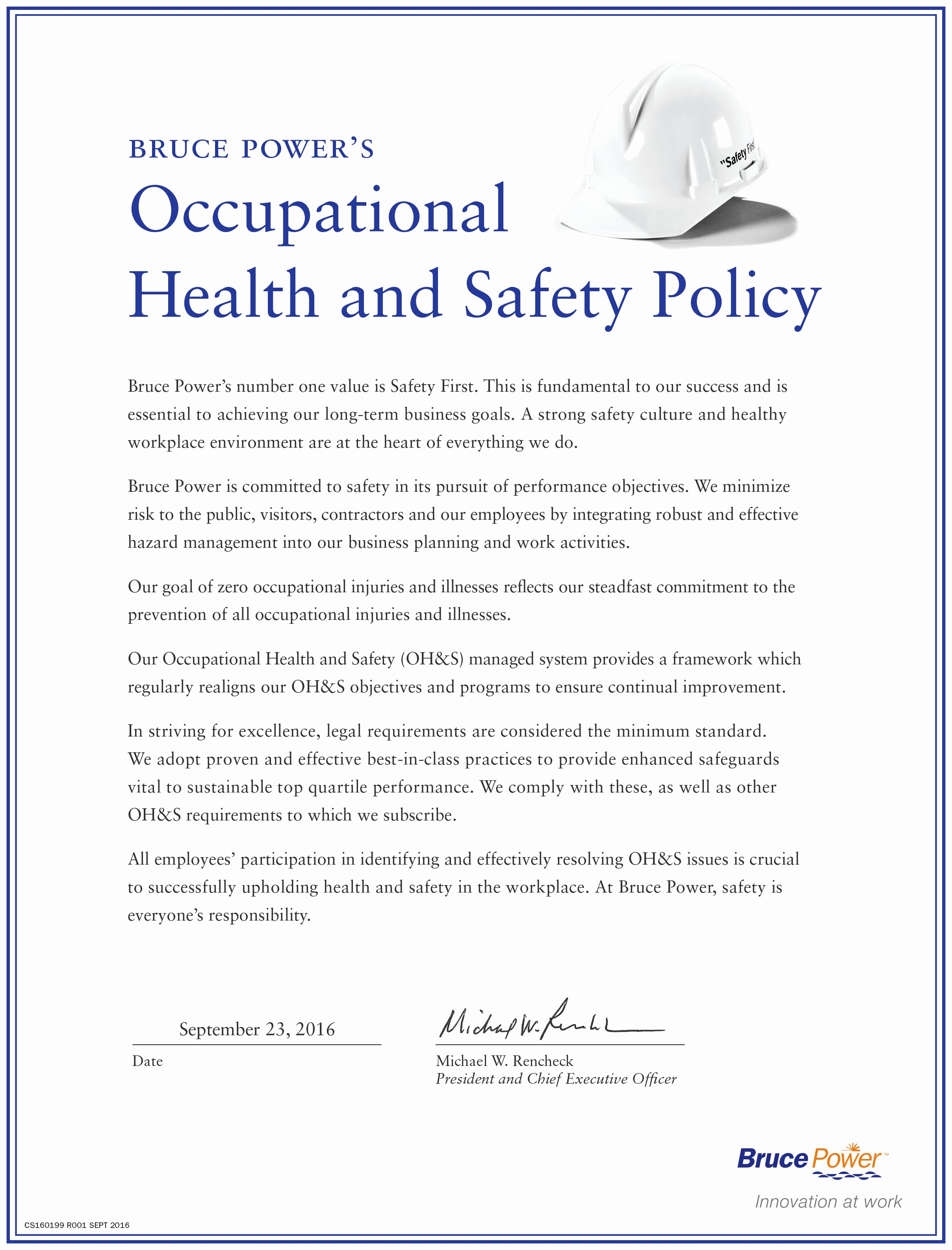 Safety and Health Program Template Elegant Template Health and Safety Policy