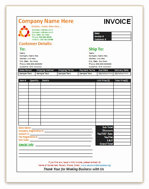 Sale Invoice Template Word Awesome Save Word Templates July 2013