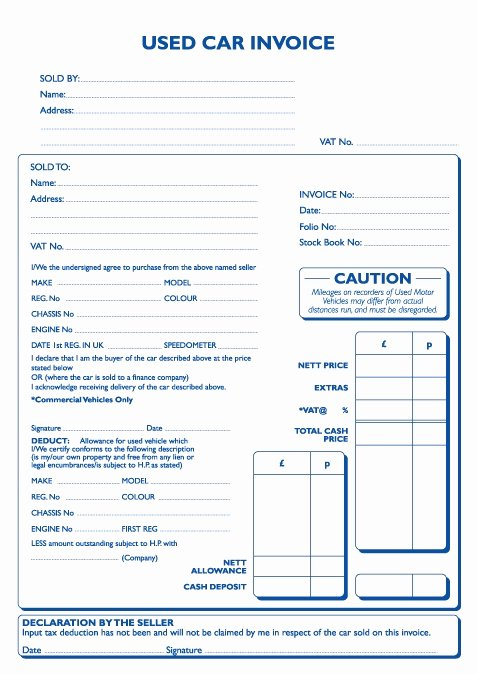 Sale Invoice Template Word Awesome Used Car Invoice