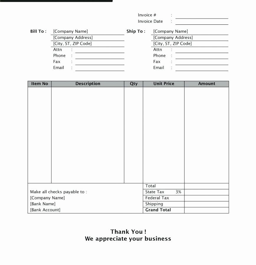 Sale Invoice Template Word Fresh Car Deposit Receipt Template Word Sale Invoice Good Used