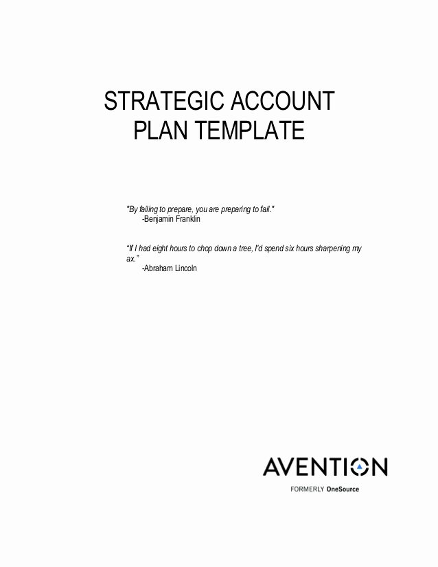 Sales Account Plan Template Awesome Strategic Account Plan Template