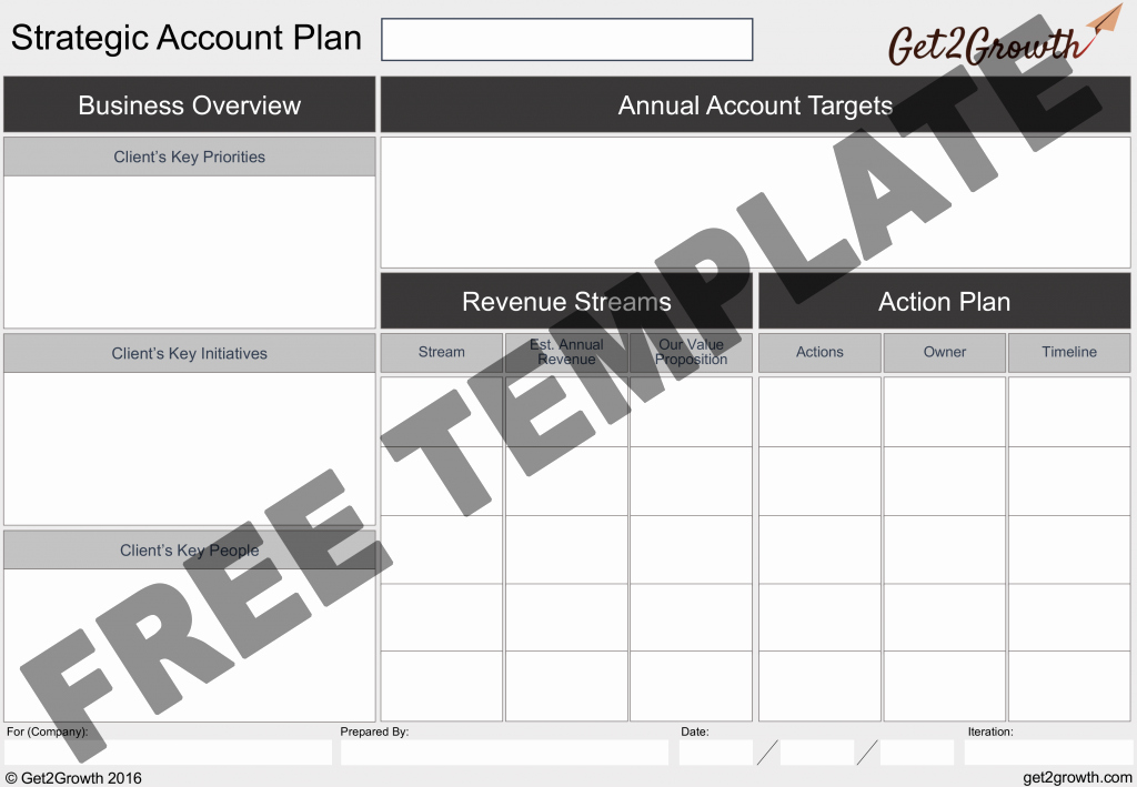 Sales Account Plan Template Best Of the E Page Account Plan Template