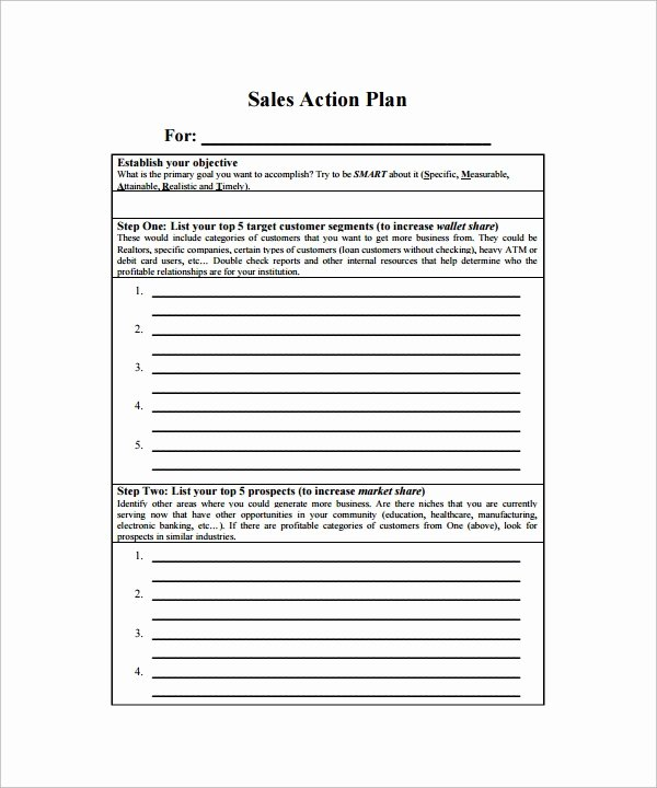 Sales Action Plan Template Awesome 23 Action Plan Templates Download for Free