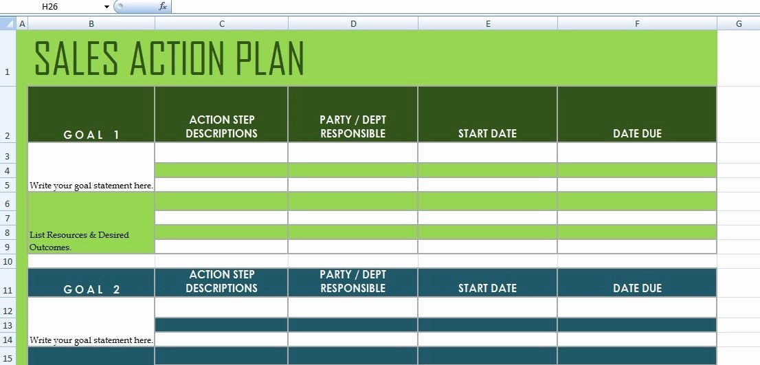 Sales Action Plan Template Beautiful Get Sales Action Plan Template Xls