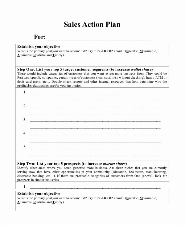 Sales Action Plan Template Inspirational Action Plan Templates 9 Free Word Pdf Documents