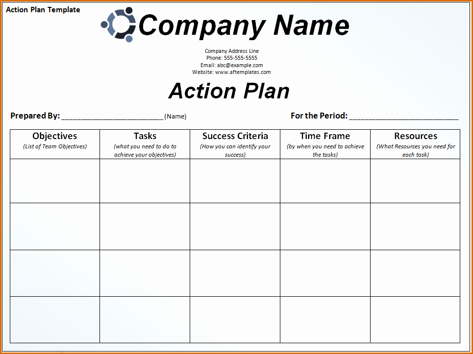 Sales Action Plan Template Luxury 8 Sales Action Plan Template