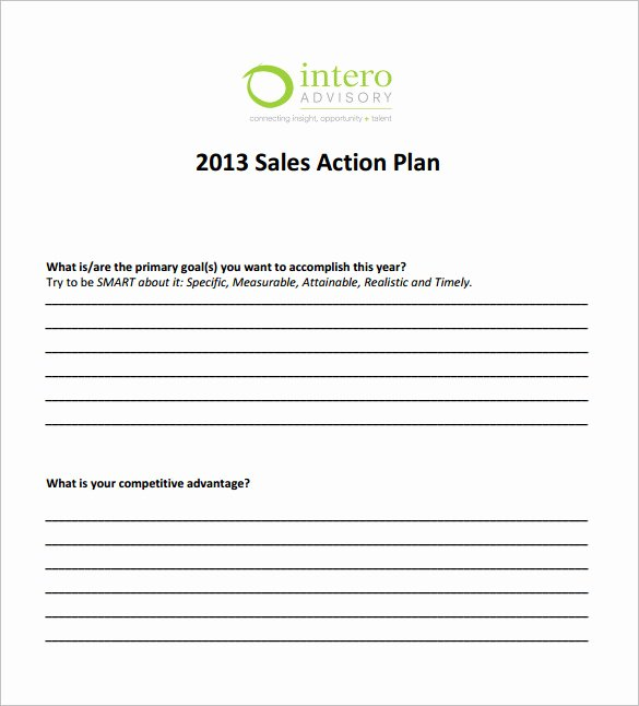 Sales Action Plan Template New 25 Plan Template Word Excel Pdf