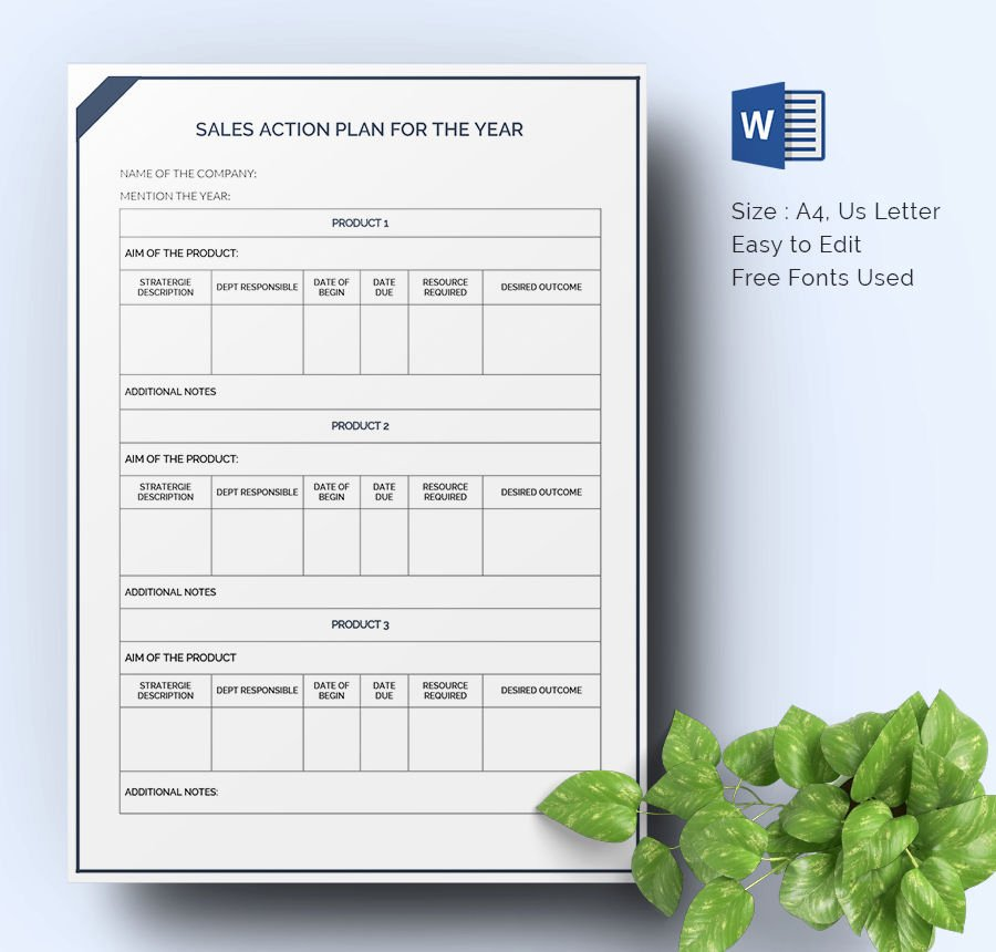 Sales Action Plan Template New 27 Sales Action Plan Templates Doc Pdf Ppt