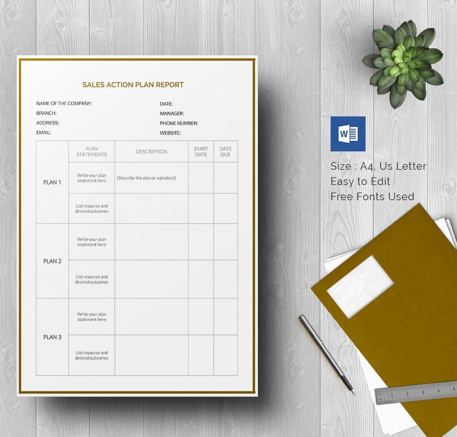 Sales Action Plan Template Unique 27 Sales Action Plan Templates Doc Pdf Ppt