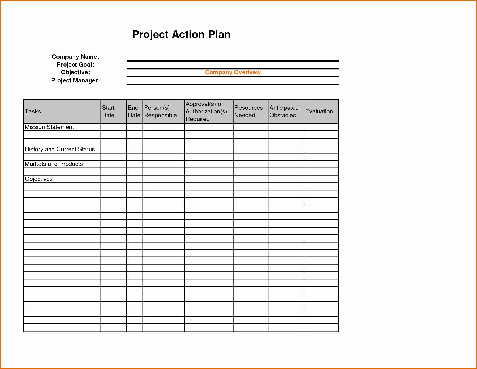 Sales Action Plan Template Unique 8 Sales Action Plan Template