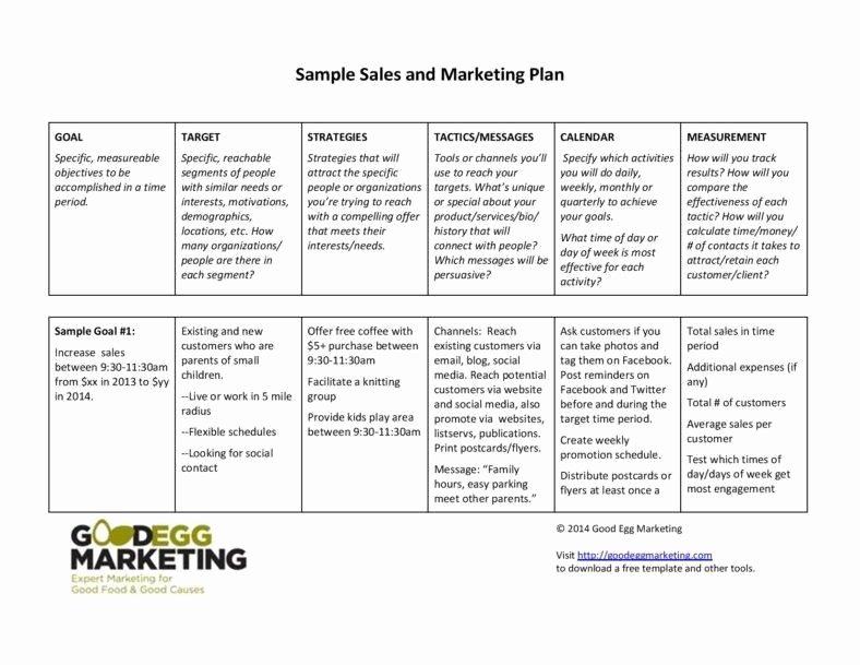 Sales and Marketing Plan Template Unique 5 Sales Strategic Plans