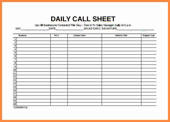 Sales Call Log Template Lovely Inventory Spreadsheet Template