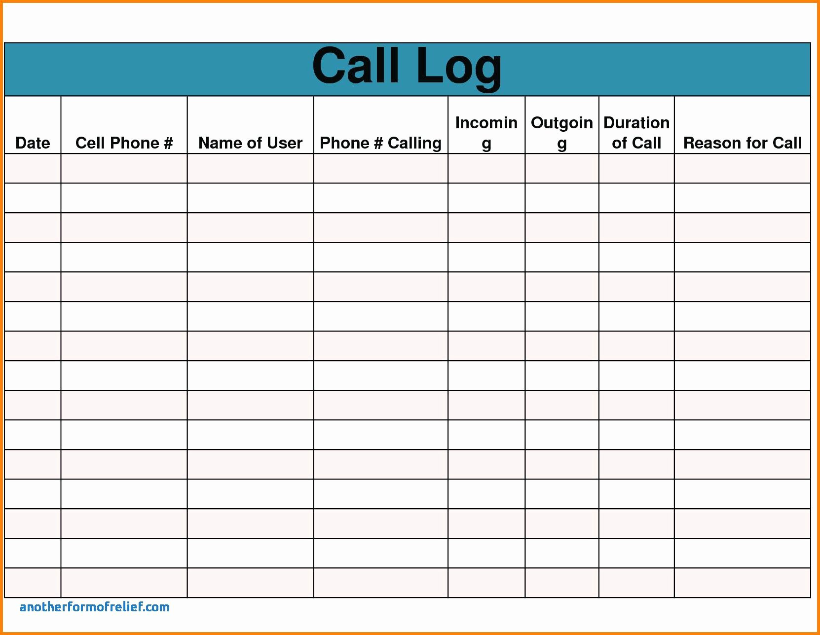 Sales Call Log Template Luxury Template Call Report Template Excel