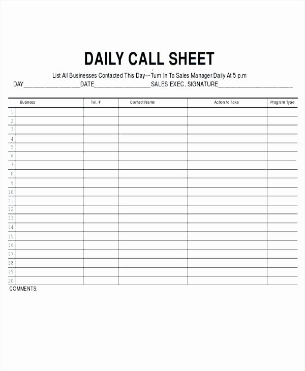 Sales Call Log Template Unique Call Log Sheet Template Daily Sales Rep – Rightarrow