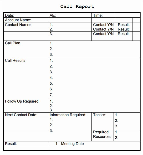 Sales Call Plan Template Beautiful Sales Report Template 9 Free Pdf Doc Download