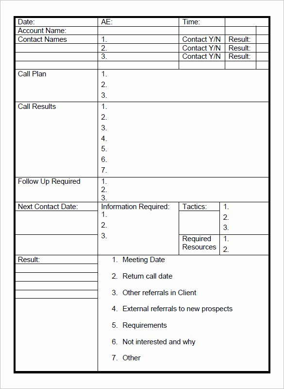 Sales Call Plan Template Elegant 24 Call Report Templates Docs Pdf Word Pages