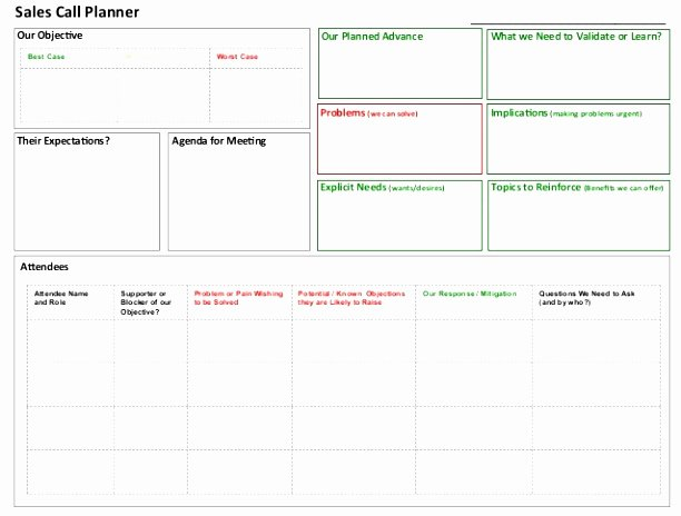 Sales Call Plan Template Lovely 10 Sales Call Planning Template Tiury