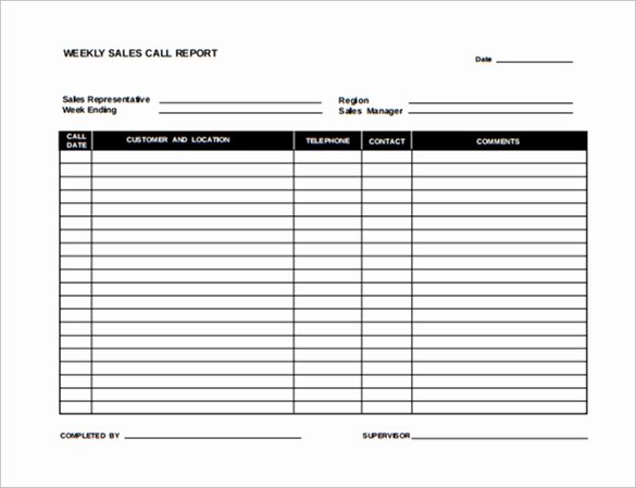 Sales Call Report Template Awesome 13 Sales Report Templates