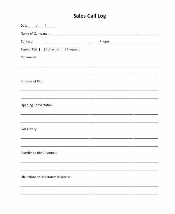 Sales Call Report Template Elegant Sales Call Report Template 11 Free Word Pdf format
