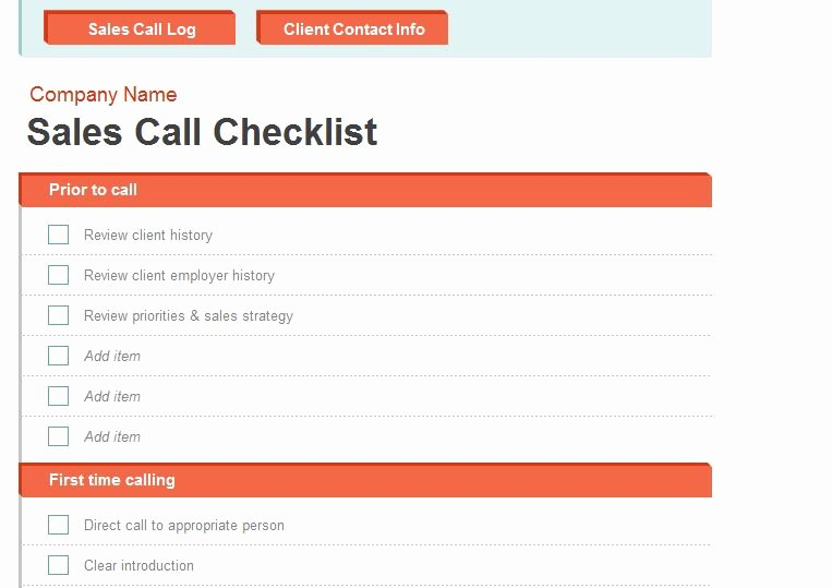 Sales Call Report Template Excel New Sales Call Report Template